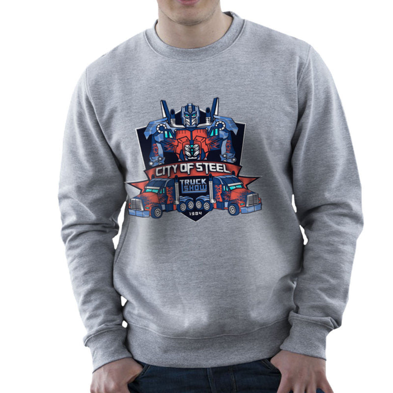 City of Steal Optimus Prime Truck Show Transformers Men's Sweatshirt Men's Sweatshirt Cloud City 7 - 5