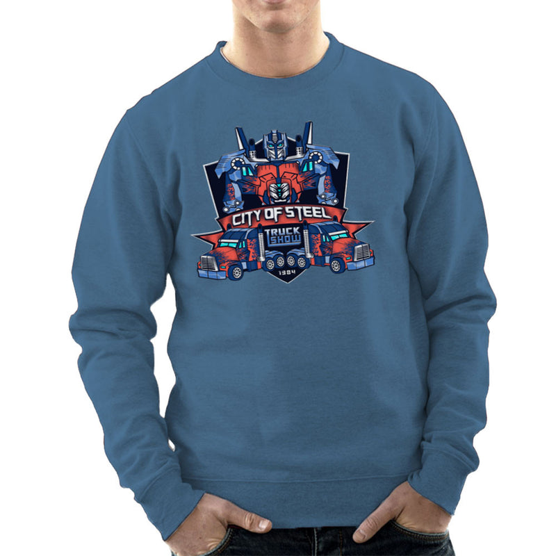 City of Steal Optimus Prime Truck Show Transformers Men's Sweatshirt Men's Sweatshirt Cloud City 7 - 9