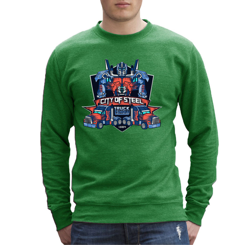 City of Steal Optimus Prime Truck Show Transformers Men's Sweatshirt Men's Sweatshirt Cloud City 7 - 14