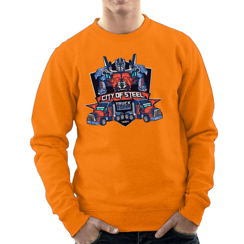City of Steal Optimus Prime Truck Show Transformers Men's Sweatshirt Men's Sweatshirt Cloud City 7 - 17