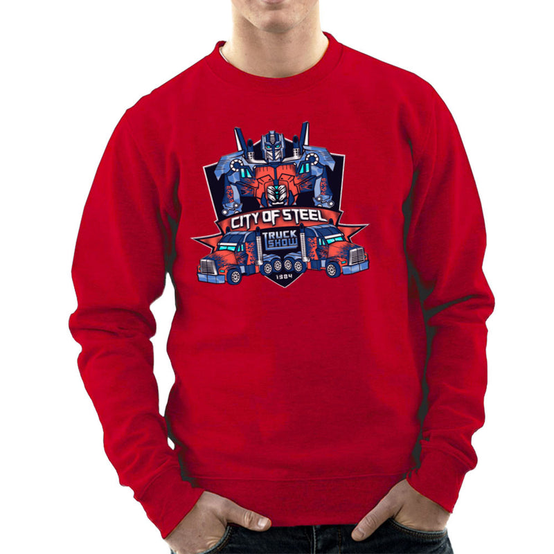 City of Steal Optimus Prime Truck Show Transformers Men's Sweatshirt Men's Sweatshirt Cloud City 7 - 16