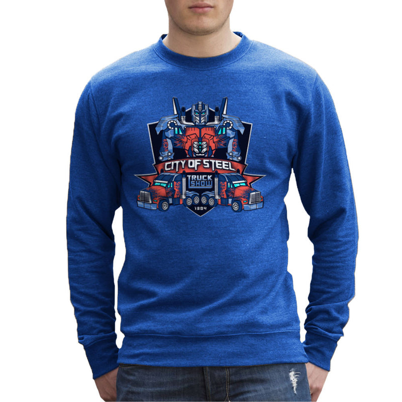 City of Steal Optimus Prime Truck Show Transformers Men's Sweatshirt Men's Sweatshirt Cloud City 7 - 8