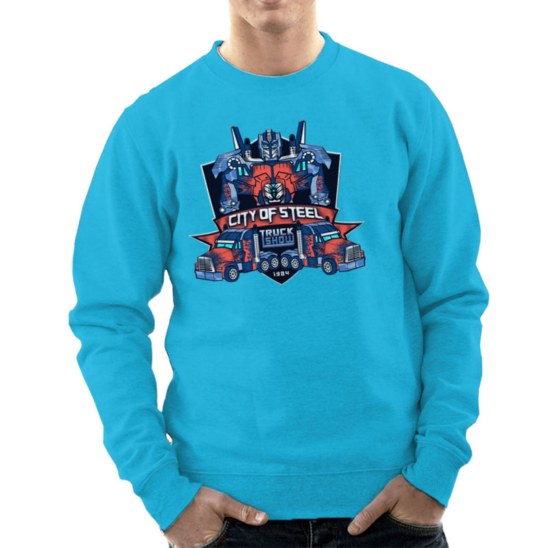 City of Steal Optimus Prime Truck Show Transformers Men's Sweatshirt Men's Sweatshirt Cloud City 7 - 10