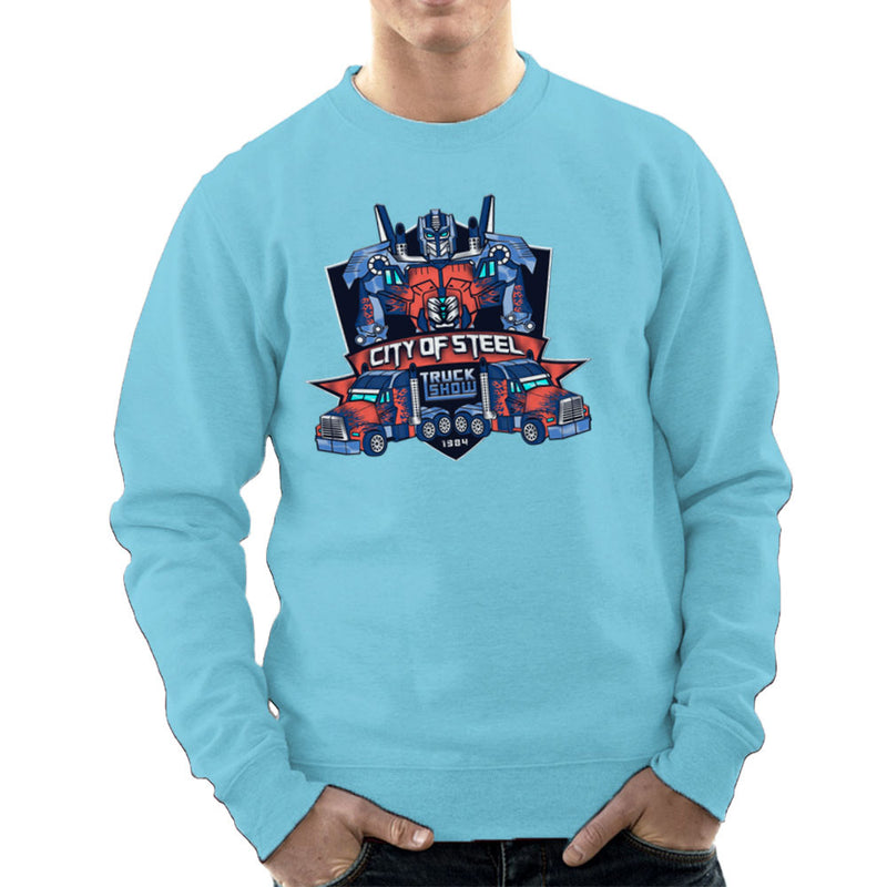 City of Steal Optimus Prime Truck Show Transformers Men's Sweatshirt Men's Sweatshirt Cloud City 7 - 11
