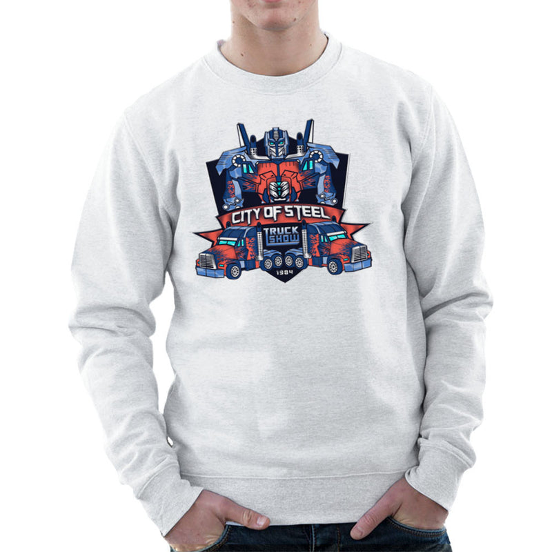 City of Steal Optimus Prime Truck Show Transformers Men's Sweatshirt Men's Sweatshirt Cloud City 7 - 6
