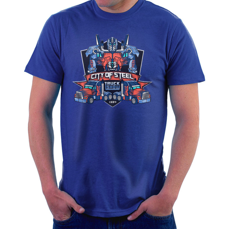 City of Steal Optimus Prime Truck Show Transformers Men's T-Shirt by Kempo24 - Cloud City 7