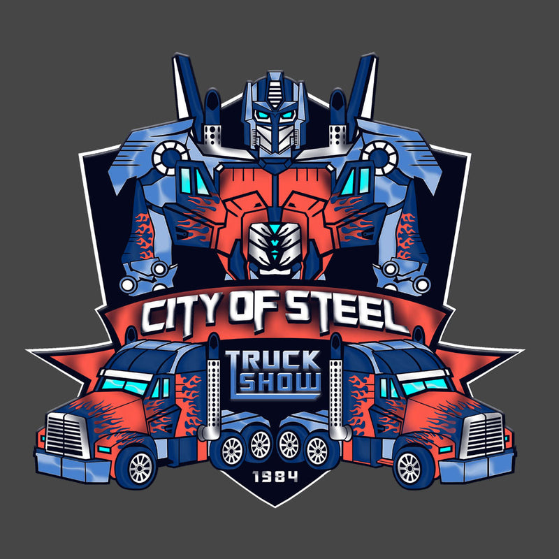 City of Steal Optimus Prime Truck Show Transformers Men's Sweatshirt Men's Sweatshirt Cloud City 7 - 3