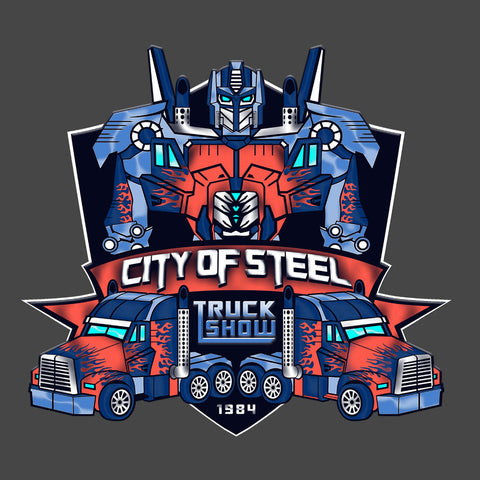 City of Steal Optimus Prime Truck Show Transformers