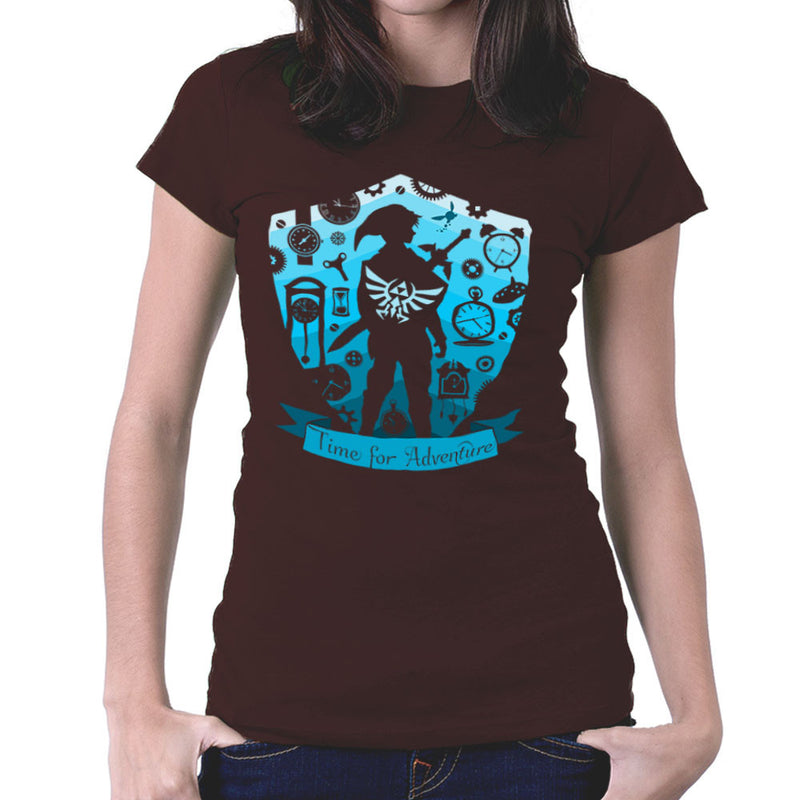 Time for Adventure Link Zelda Badge Women's T-Shirt by Kempo24 - Cloud City 7