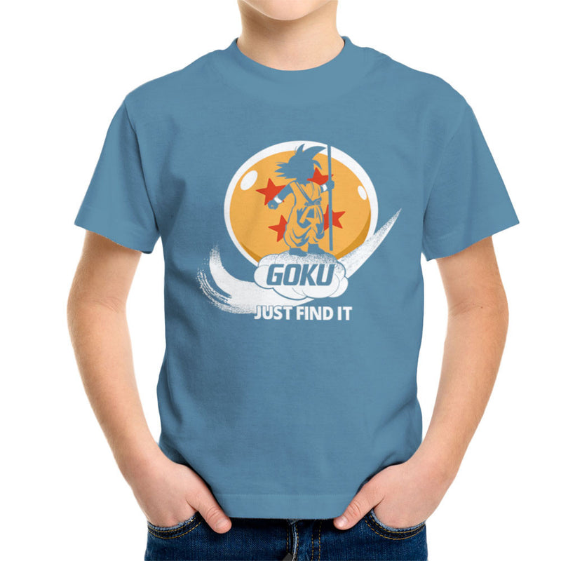 Just Find It Goku Dragon Ball Z Kid's T-Shirt by Kempo24 - Cloud City 7