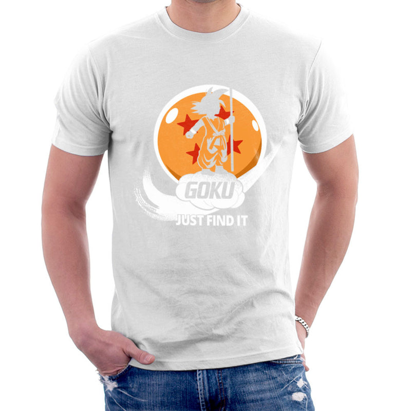 Just Find It Goku Dragon Ball Z Men's T-Shirt by Kempo24 - Cloud City 7