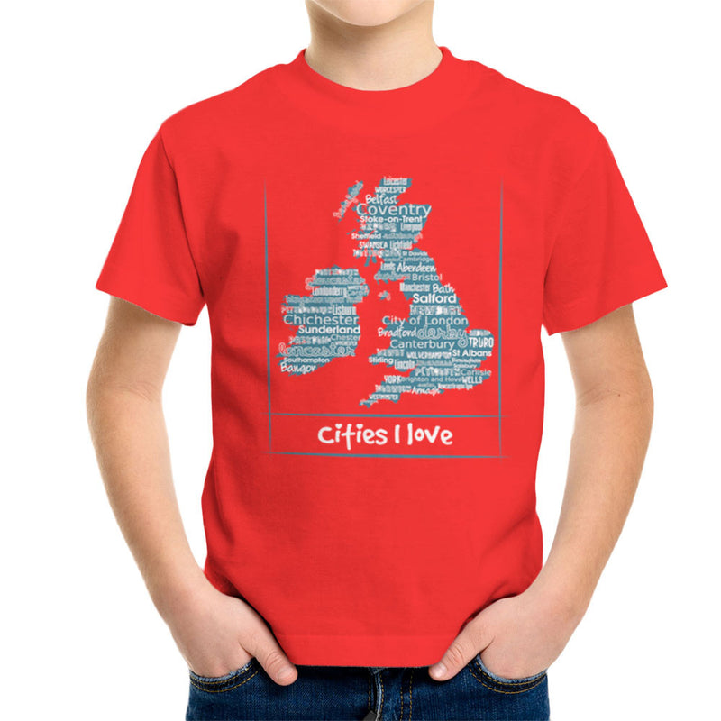Lovely Cities Great Britain and Ireland Kid's T-Shirt by Kempo24 - Cloud City 7