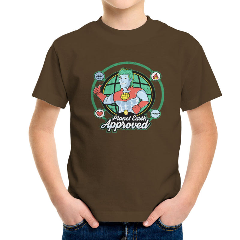 Captain Planet Earth Approved Kid's T-Shirt by Kempo24 - Cloud City 7