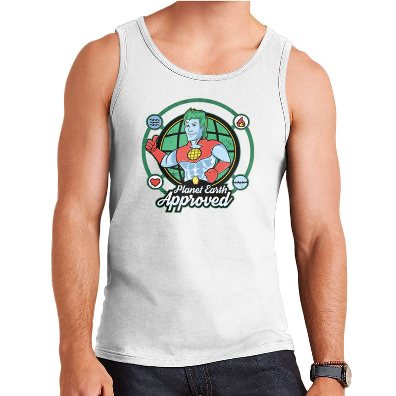 Captain Planet Earth Approved Men's Vest by Kempo24 - Cloud City 7