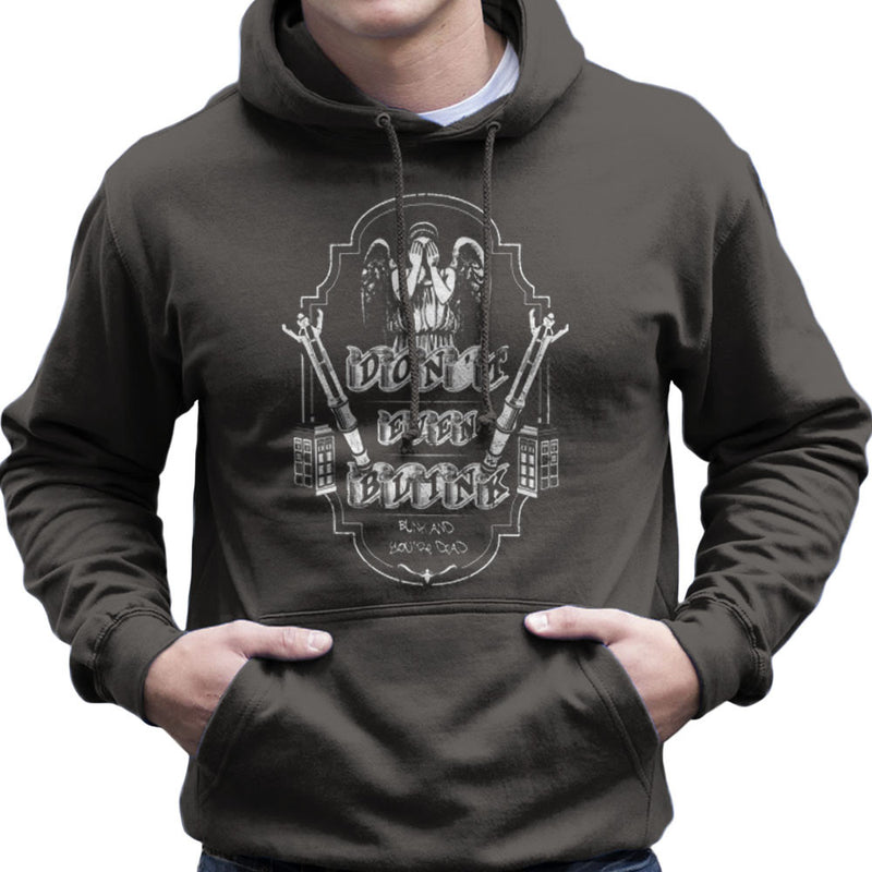 Don't Even Blink Weeping Angels Doctor Who Tardis Men's Hooded Sweatshirt by Kempo24 - Cloud City 7