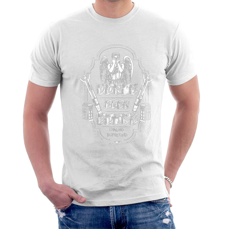 Don't Even Blink Weeping Angels Doctor Who Tardis Men's T-Shirt by Kempo24 - Cloud City 7