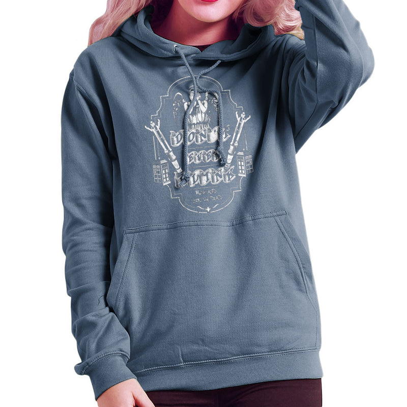 Don't Even Blink Weeping Angels Doctor Who Tardis Women's Hooded Sweatshirt by Kempo24 - Cloud City 7