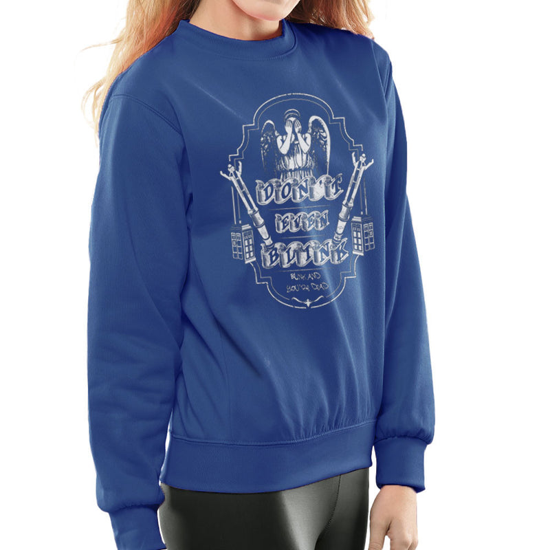 Don't Even Blink Weeping Angels Doctor Who Tardis Women's Sweatshirt by Kempo24 - Cloud City 7