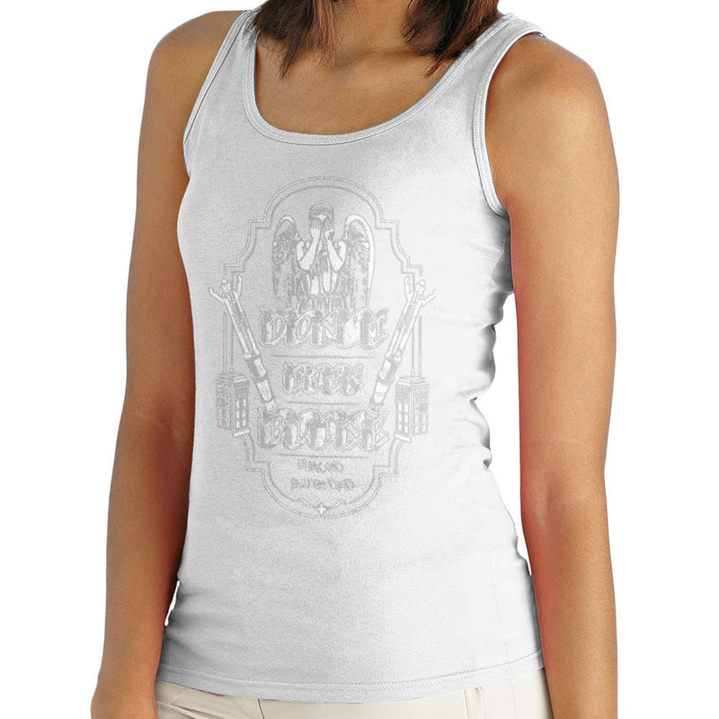 Don't Even Blink Weeping Angels Doctor Who Tardis Women's Vest by Kempo24 - Cloud City 7