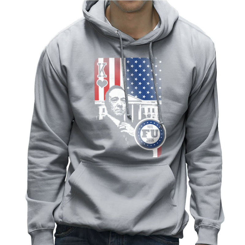 Vote FU House of Cards Frank Underwood King Men's Hooded Sweatshirt by Kempo24 - Cloud City 7