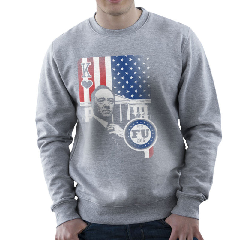 Vote FU House of Cards Frank Underwood King Men's Sweatshirt by Kempo24 - Cloud City 7