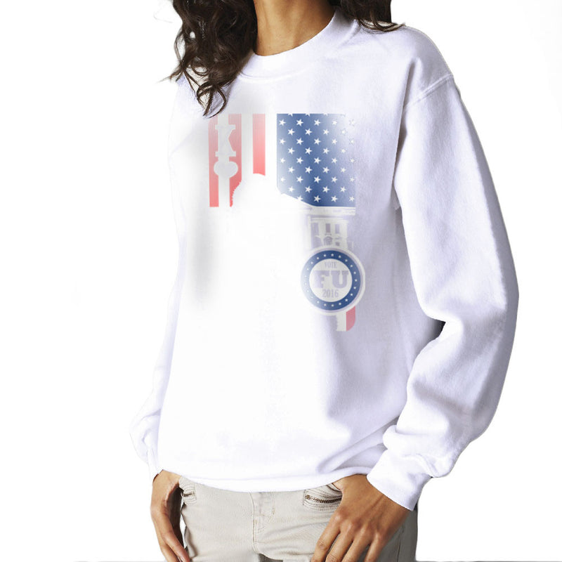 Vote FU House of Cards Frank Underwood King Women's Sweatshirt by Kempo24 - Cloud City 7