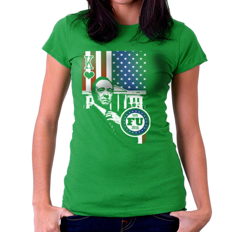 Vote FU House of Cards Frank Underwood King Women's T-Shirt by Kempo24 - Cloud City 7
