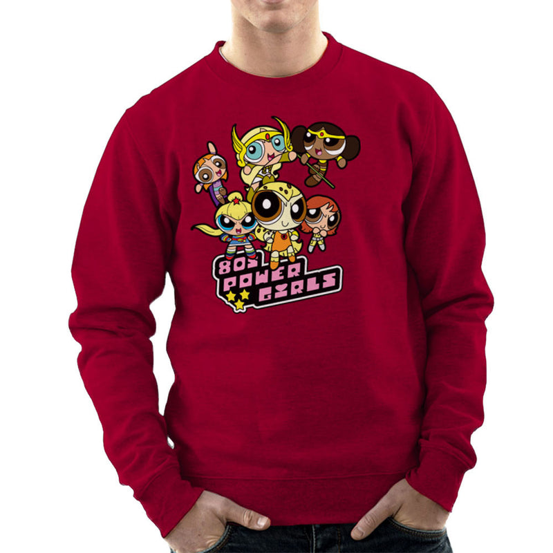 Eighties Power Girls Powerpuff Men's Sweatshirt Men's Sweatshirt Cloud City 7 - 15