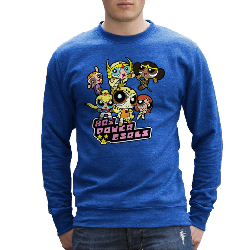 Eighties Power Girls Powerpuff Men's Sweatshirt Men's Sweatshirt Cloud City 7 - 8