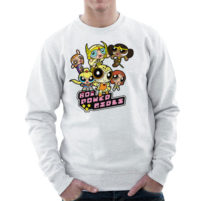 Eighties Power Girls Powerpuff Men's Sweatshirt Men's Sweatshirt Cloud City 7 - 6