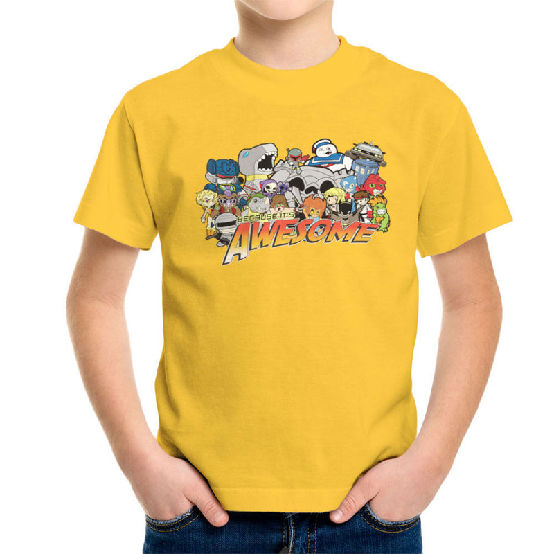 The Eighties Because its Awesome Kid's T-Shirt by TopNotchy - Cloud City 7