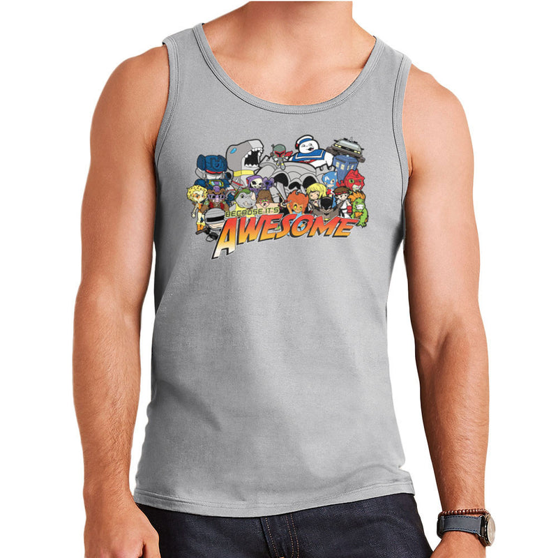 The Eighties Because its Awesome Men's Vest by TopNotchy - Cloud City 7