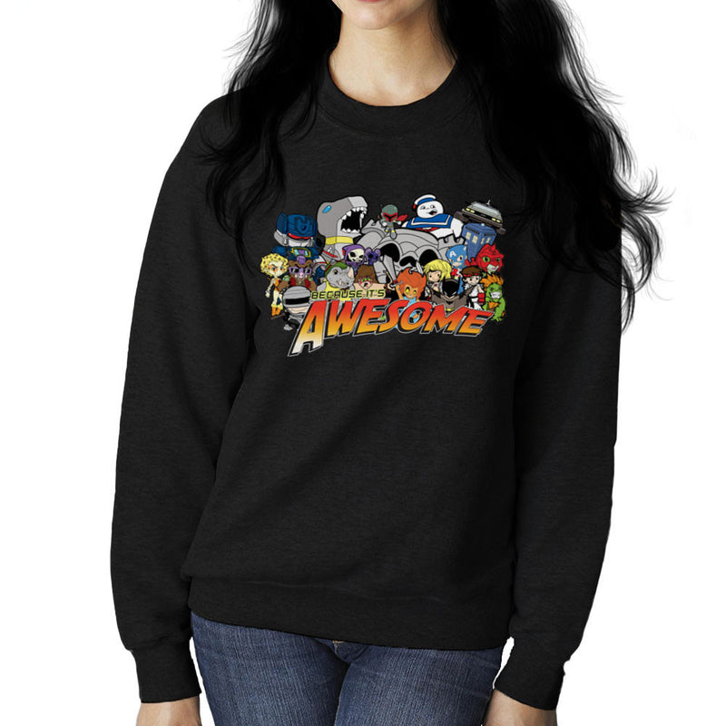 The Eighties Because its Awesome Women's Sweatshirt by TopNotchy - Cloud City 7