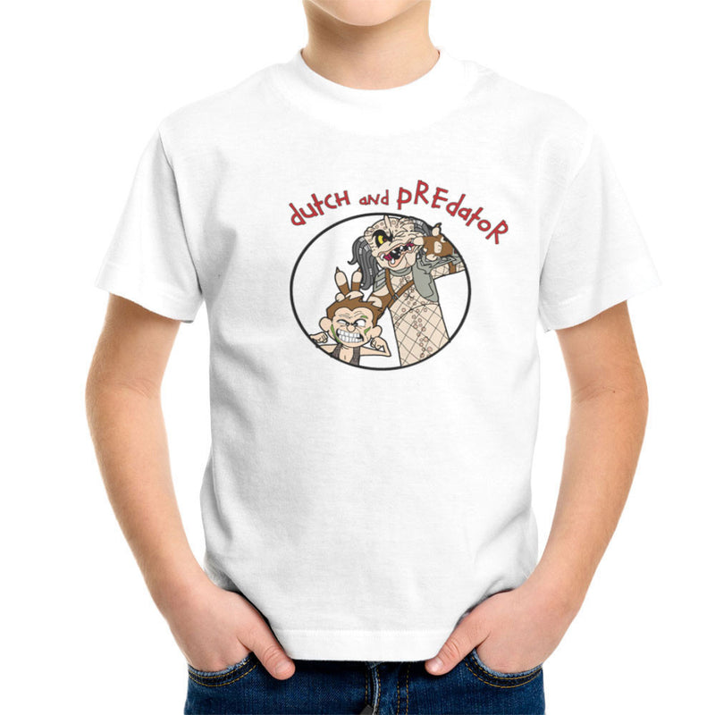 Dutch and Predator Calvin and Hobbes Kid's T-Shirt by TopNotchy - Cloud City 7