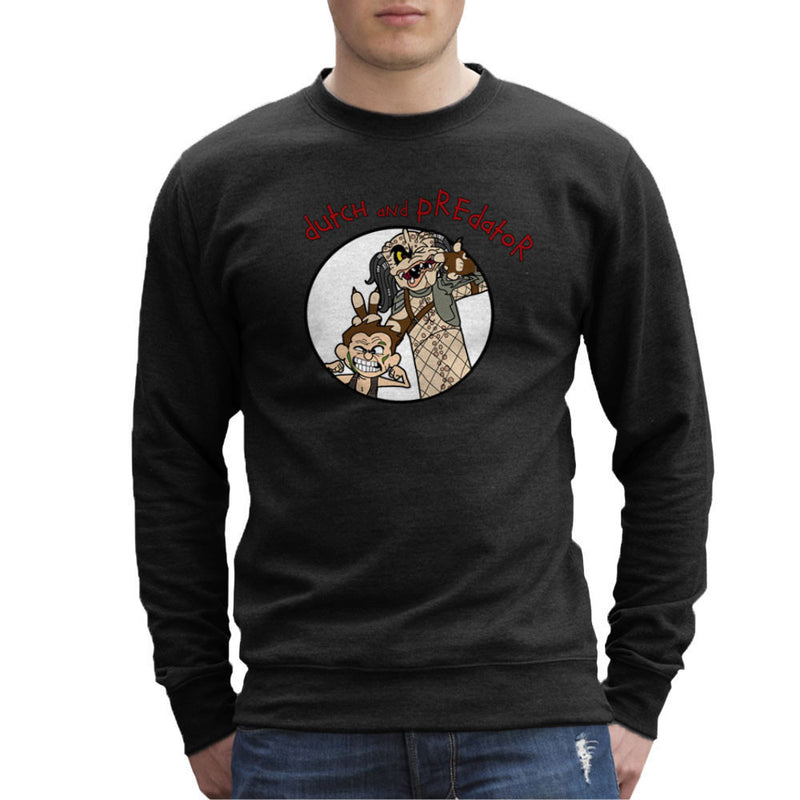 Dutch and Predator Calvin and Hobbes Men's Sweatshirt by TopNotchy - Cloud City 7