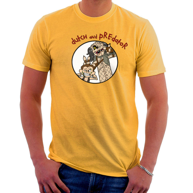 Dutch and Predator Calvin and Hobbes Men's T-Shirt by TopNotchy - Cloud City 7