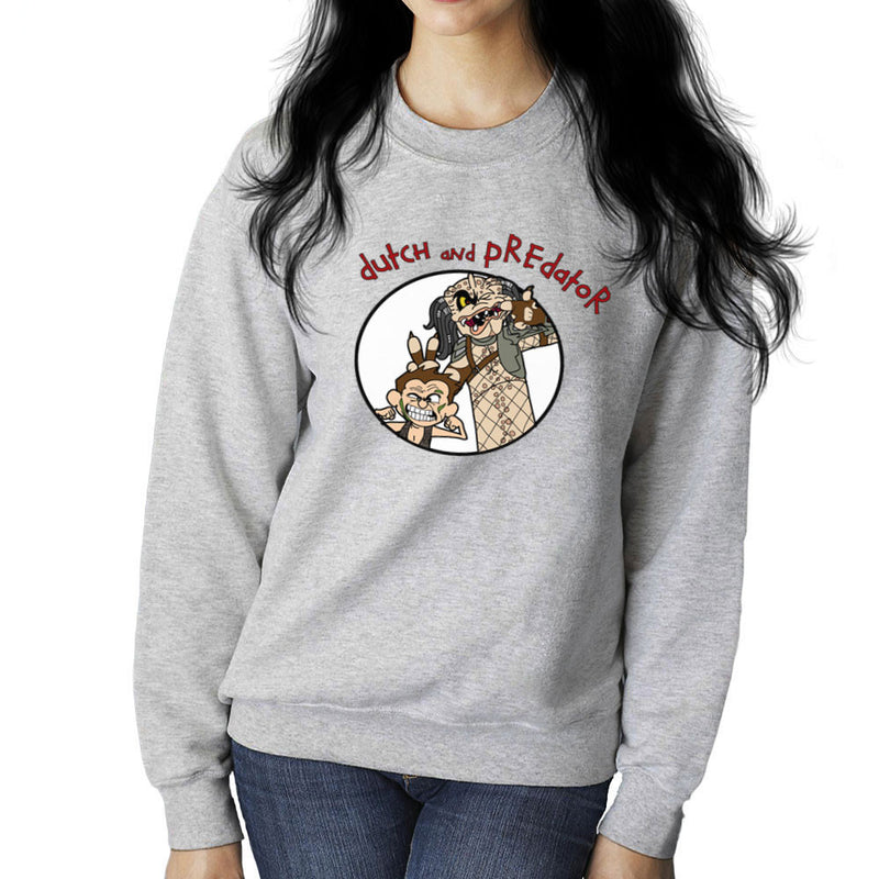 Dutch and Predator Calvin and Hobbes Women's Sweatshirt by TopNotchy - Cloud City 7