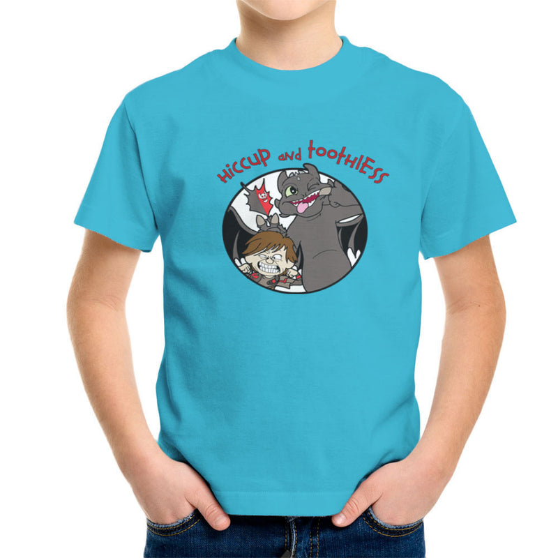 Hiccup and Toothless How to Train Your Dragon Calvin and Hobbes Kid's T-Shirt by TopNotchy - Cloud City 7