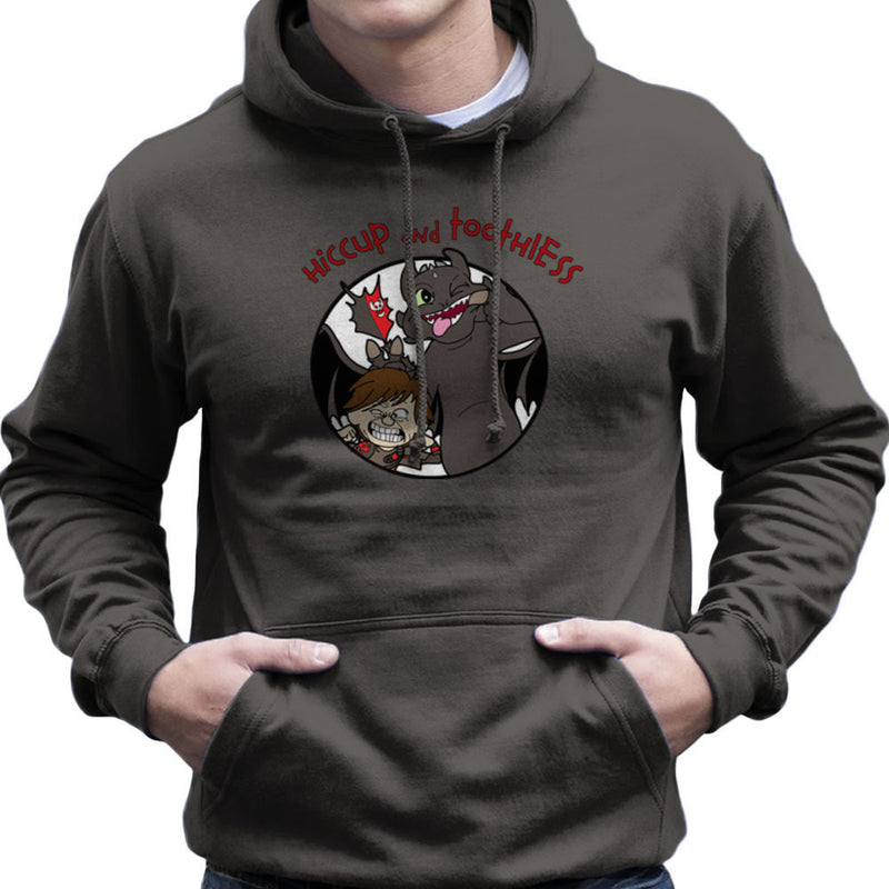 Hiccup and Toothless How to Train Your Dragon Calvin and Hobbes Men's Hooded Sweatshirt by TopNotchy - Cloud City 7
