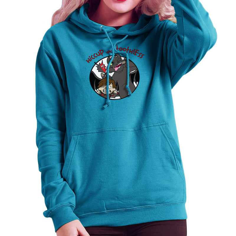 Hiccup and Toothless How to Train Your Dragon Calvin and Hobbes Women's Hooded Sweatshirt by TopNotchy - Cloud City 7