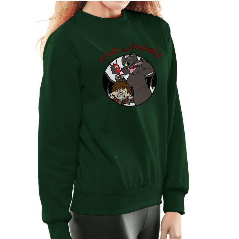 Hiccup and Toothless How to Train Your Dragon Calvin and Hobbes Women's Sweatshirt Women's Sweatshirt Cloud City 7 - 13