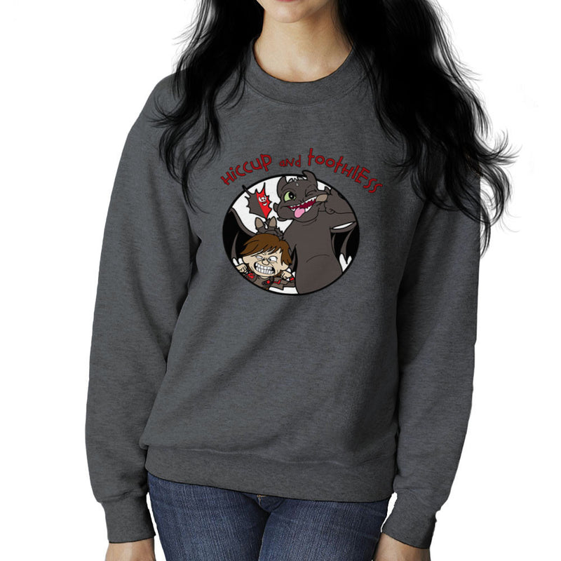 Hiccup and Toothless How to Train Your Dragon Calvin and Hobbes Women's Sweatshirt Women's Sweatshirt Cloud City 7 - 4
