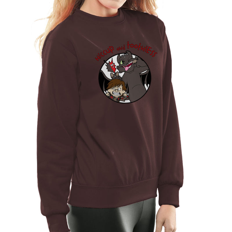 Hiccup and Toothless How to Train Your Dragon Calvin and Hobbes Women's Sweatshirt Women's Sweatshirt Cloud City 7 - 12