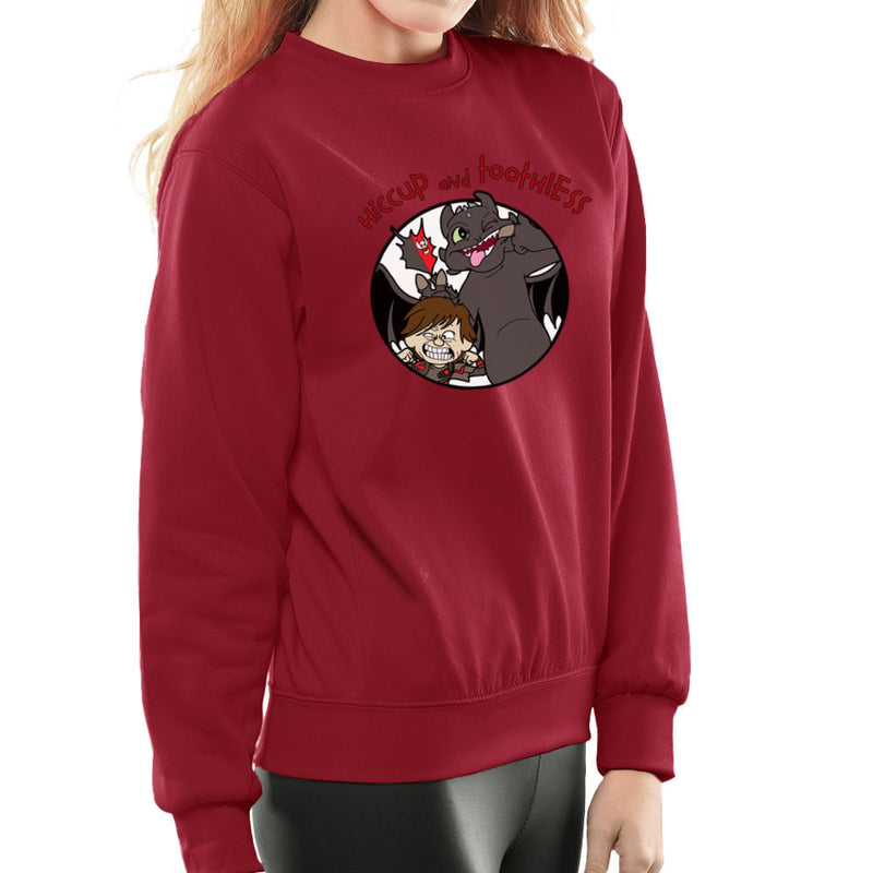 Hiccup and Toothless How to Train Your Dragon Calvin and Hobbes Women's Sweatshirt Women's Sweatshirt Cloud City 7 - 15