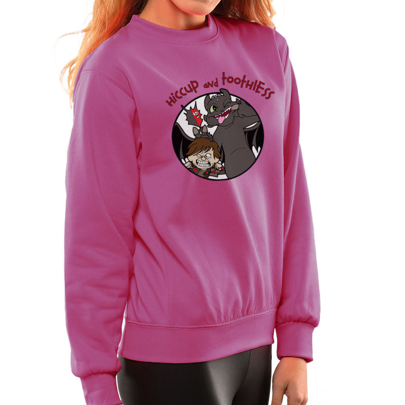 Hiccup and Toothless How to Train Your Dragon Calvin and Hobbes Women's Sweatshirt Women's Sweatshirt Cloud City 7 - 20