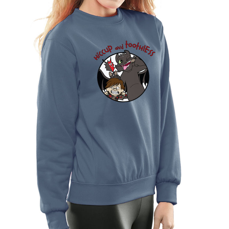 Hiccup and Toothless How to Train Your Dragon Calvin and Hobbes Women's Sweatshirt Women's Sweatshirt Cloud City 7 - 9