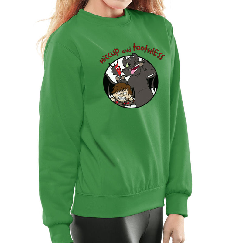 Hiccup and Toothless How to Train Your Dragon Calvin and Hobbes Women's Sweatshirt Women's Sweatshirt Cloud City 7 - 14