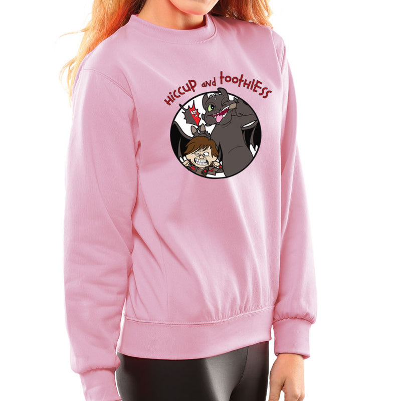 Hiccup and Toothless How to Train Your Dragon Calvin and Hobbes Women's Sweatshirt Women's Sweatshirt Cloud City 7 - 21