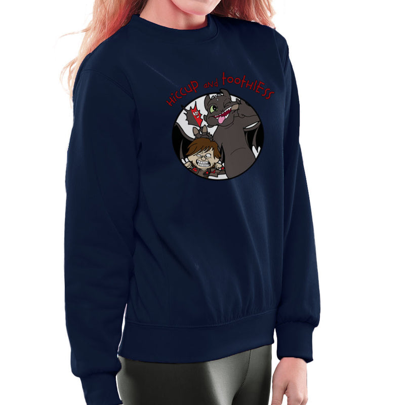 Hiccup and Toothless How to Train Your Dragon Calvin and Hobbes Women's Sweatshirt Women's Sweatshirt Cloud City 7 - 7