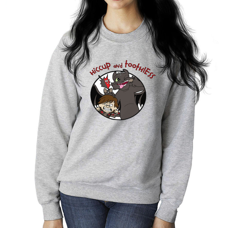 Hiccup and Toothless How to Train Your Dragon Calvin and Hobbes Women's Sweatshirt Women's Sweatshirt Cloud City 7 - 1